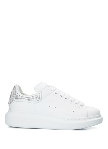 Alexander McQueen Alexander McQueen Oversize  Kadın Deri Sneaker 101611808 Beyaz